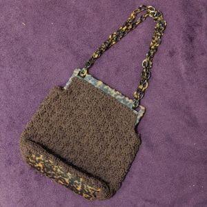 Vintage Tortoise Shell shoulder purse